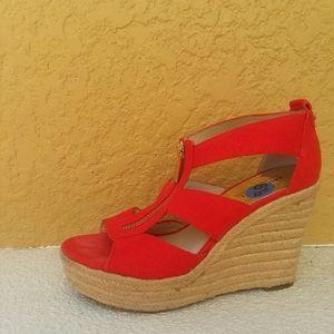 MICHAEL KORS Red Wedge Heels 6.5